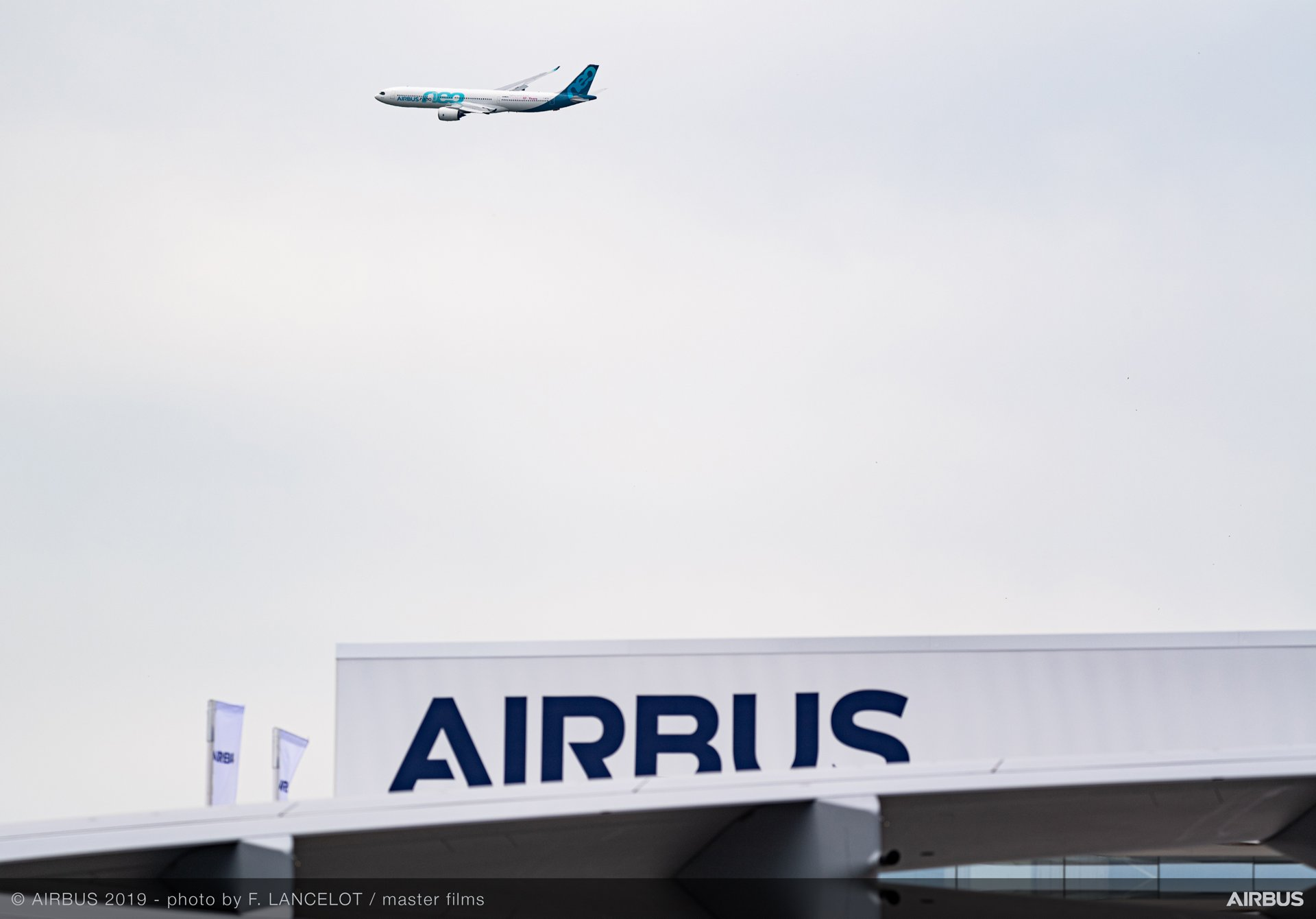 PAS2019 A330-900 flying over Airbus pavilion    The A330neo – seen here in the 2019 Paris Air Show's flying display during – is the latest evolution in Airbus' market-leading A330 Family