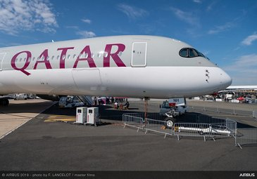 A350-1000 Qatar static display at Paris Airshow 2019 - Day 3