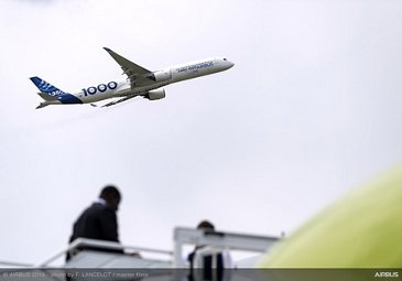 A350-1000 Flying Display at Paris Airshow - Day 3