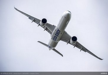 A350-1000 Airbus flying display at Paris Airshow 2019 - Day 2