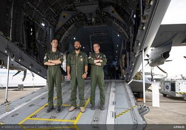 French Air Force A400M flight crew at the 2019 Paris Airshow  - Day 3