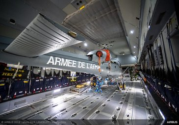 AS555 Fennec inside A400M at the 2019 Paris Airshow - Day 3