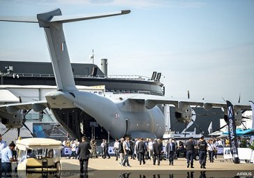 French Air Force A400M ambiance at the 2019 Paris Airshow - Day 3
