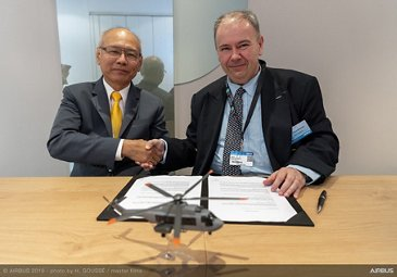Airbus Helicopters and Thai Aviation Services Signature at Paris Airshow 2019 - Day 1