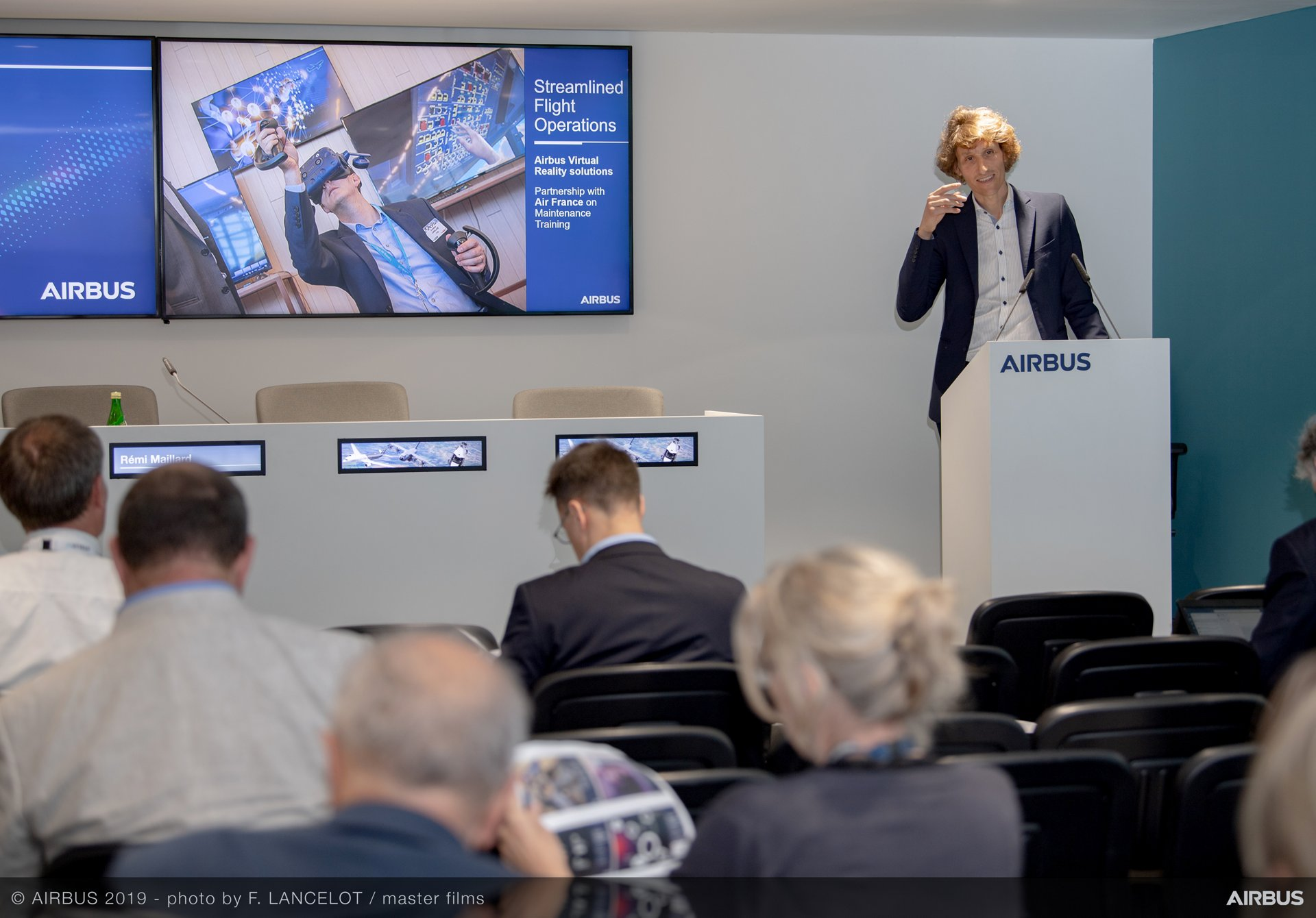 Airbus Services Media briefing at PAS 2019 - Day 3  Rémi Maillard, Head of Services by Airbus; speech