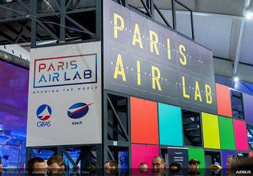 Paris Air Lab exhibit stand at Paris Airshow 2019 - Day 6
