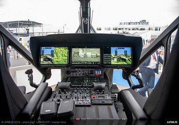 H160M Airbus demonstrator cockpit at Paris Air Show 2019 - Day 3