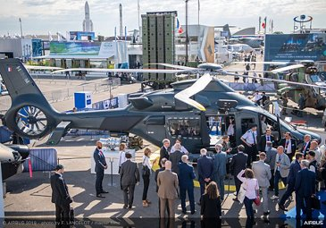 H160M static display ambiance at Paris Air Show 2019 - Day 3