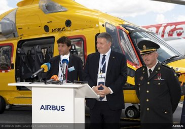 Ministry Of Interior Ukraine And Airbus Helicopters Signature at Paris Airshow - PAS2019 Day 1