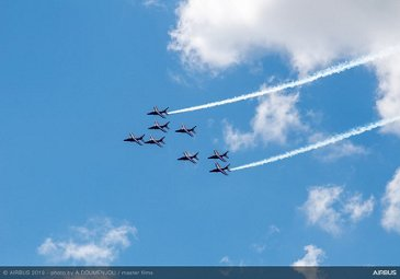 Patrouille de France flying at Paris Airshow 2019 - Day 5