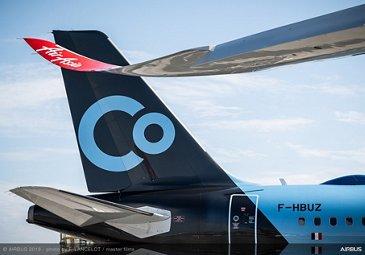 A321neo La Compagnie tailfin close up?at Paris Air Show 2019 - Day 2