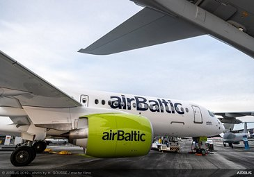 A220-300 airBaltic static display – Paris Airshow 2019 – Day 2