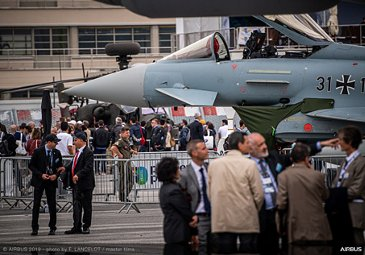 Eurofighter Typhoon ambiance at Paris Airshow 2019 - Day 4