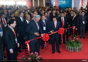 Singapore Airshow 2018 Day 1 - ribbon cutting ceremony 1