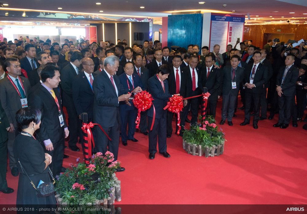 Singapore Airshow 2018 Day 1 - ribbon cutting ceremony 3