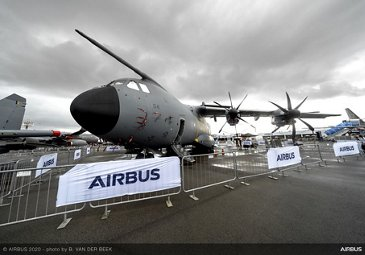 A400M on static display – SGAirshow2020