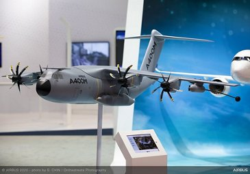A400M model on exhibit stand - SGAirshow2020