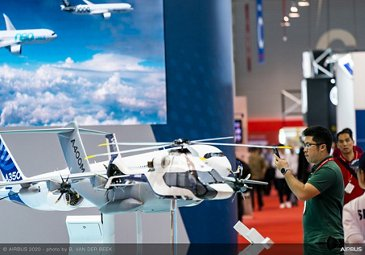 Scale models on exhibit stand - SGAirshow 2020
