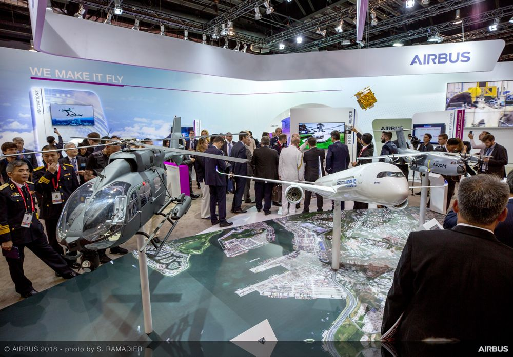 Singapore Airshow 2018 Day 1 - stand ambiance 1