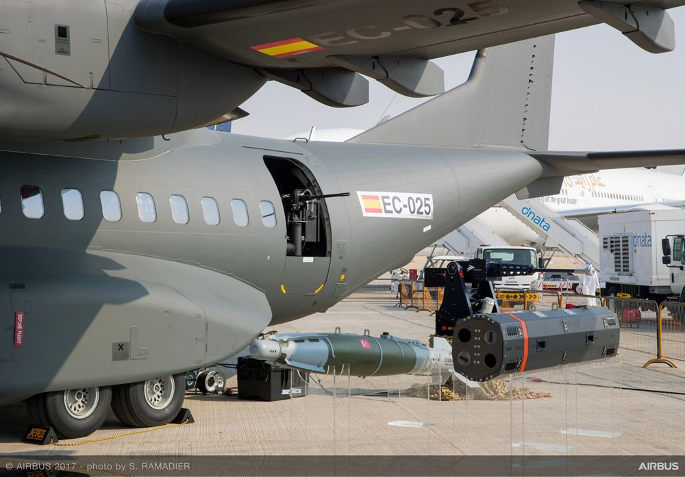 C295 armament highlighted at Dubai Airshow 2017