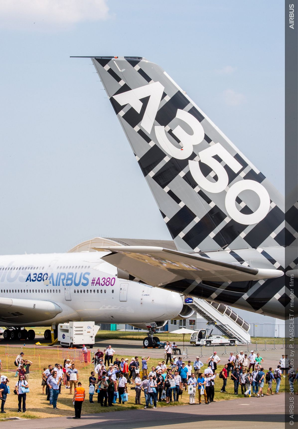 A350-1000 and A380 Static Display - 21 June PA S2017