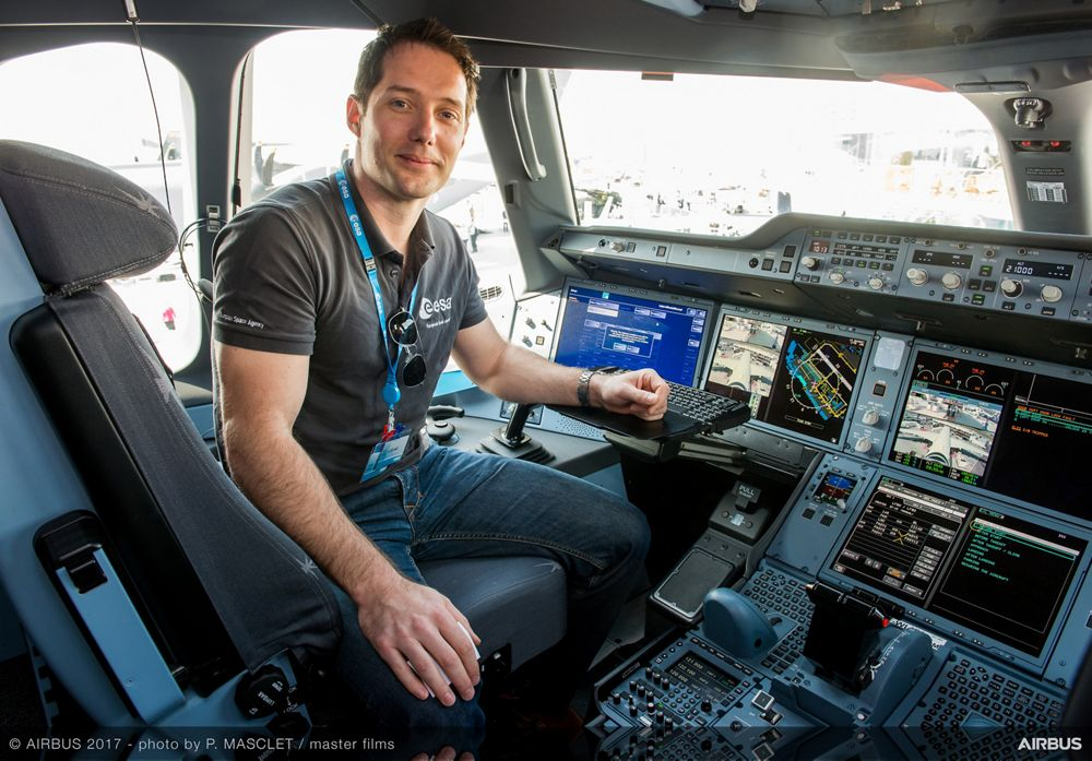 A350 Thomas Pesquet Static Display Visit - 22 June PAS 2017
