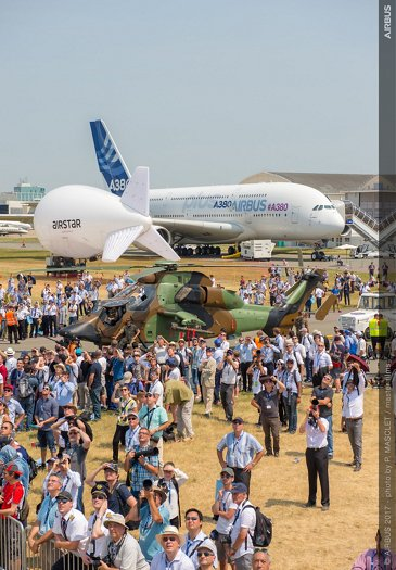 A380 Airbus and Tiger Static Display - 21 June PAS 2017 1328