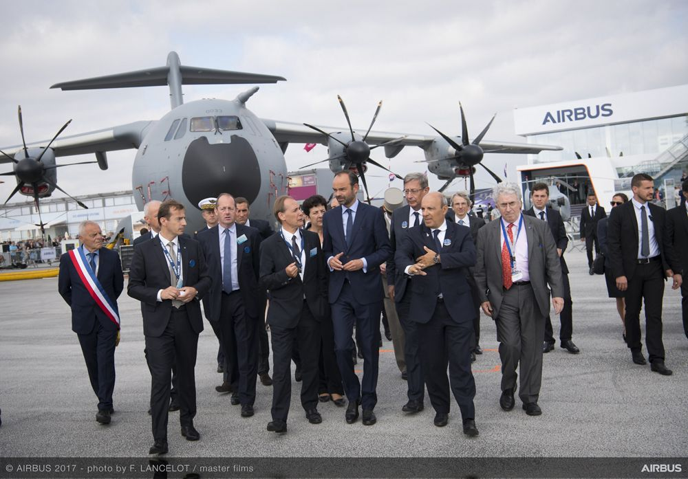 Édouard Philippe visit to Paris Air Show - 23 June PAS2017