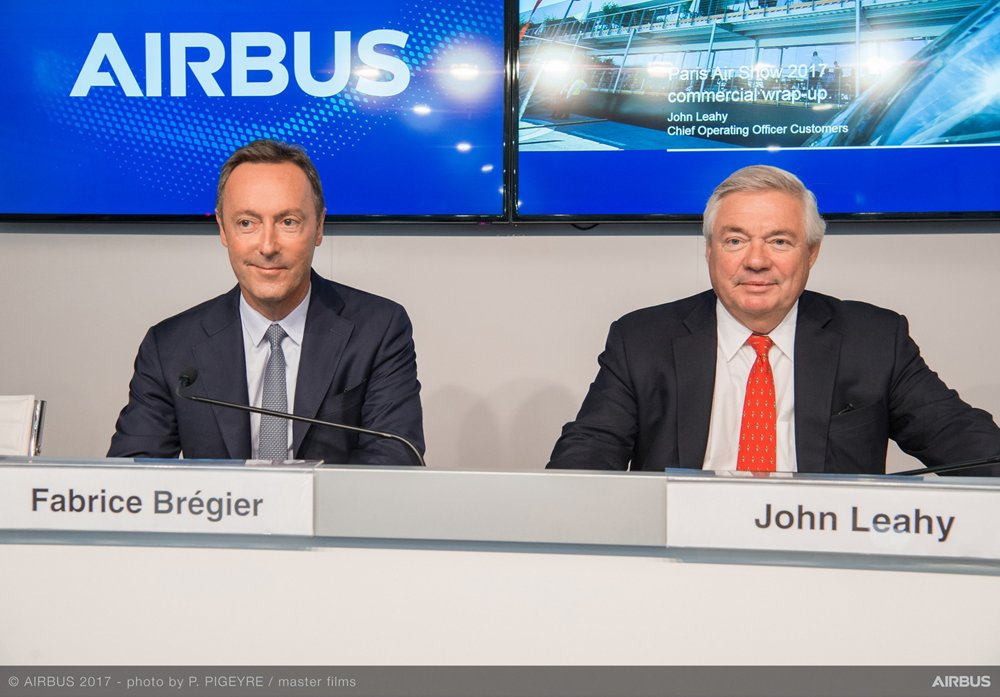 Fabrice Bregier : Chief Operating Officer and President of Commercial Aircraft and John Leahy : Chief Operating Officer Customers of Airbus Commercial Aircraft