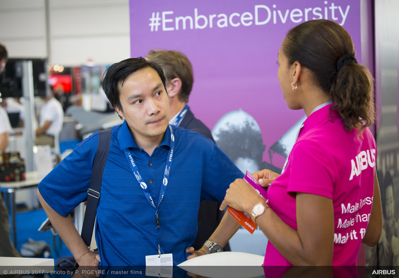 Airbus' presence at the 'Avion des Métiers' and 'Forum Emploi Formation' areas dedicated to careers, training and employment in the aerospace industry.