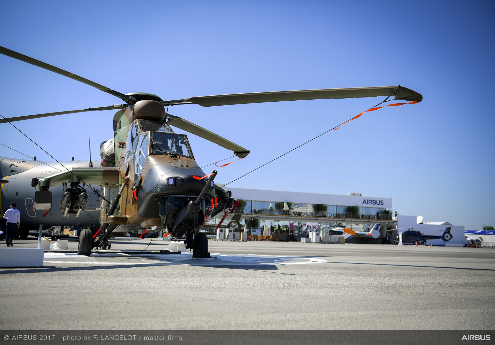 PAS 2017 19 June: Tiger helicopter at the static display
