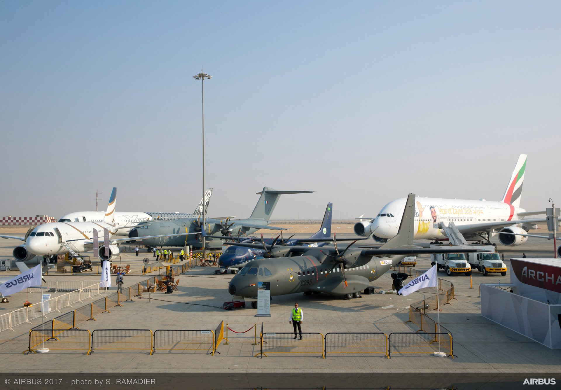 Airbus has a major presence at Dubai Airshow 2017, which is one of the world's fastest-growing aviation events