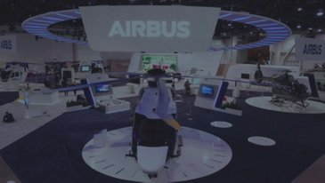 Airbus' booth at HAI
