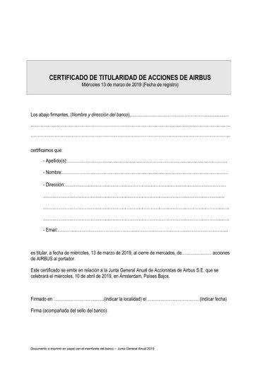 Airbus AGM 2019 Shareholder Declaration SV