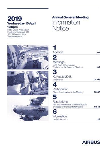 Airbus AGM 2019 Information Notice EVG