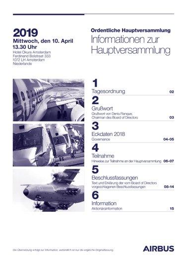 Airbus AGM 2019 Information Notice GV