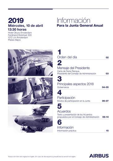 Airbus AGM 2019 Information Notice SV