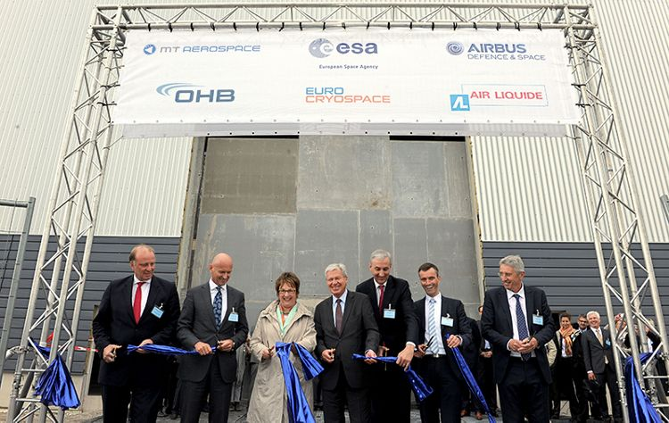 Ceremony for Eurocryospace's new manufacturing plant for cryogenic upper stage tanks in Bremen