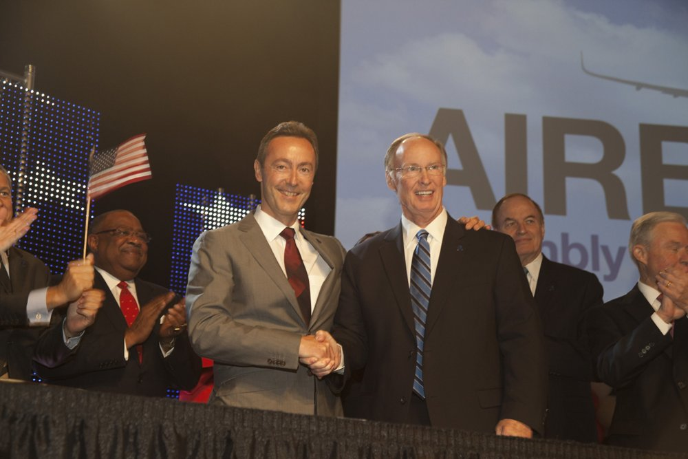 Airbus announced that it will establish the company's first U.S.-based production facility – an A320 Family final assembly line – in Mobile, Alabama during an event in 2012.