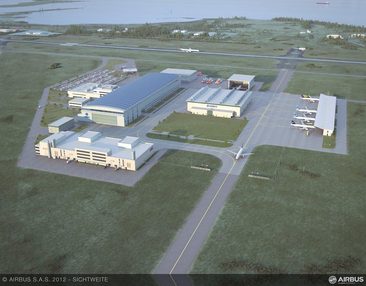 Airbus FAL Alabama 3D aerial view