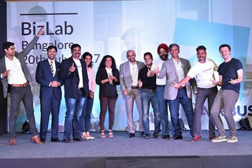 Finalist Startups From Season 2 With Airbus BizLab Team At The Flagship.