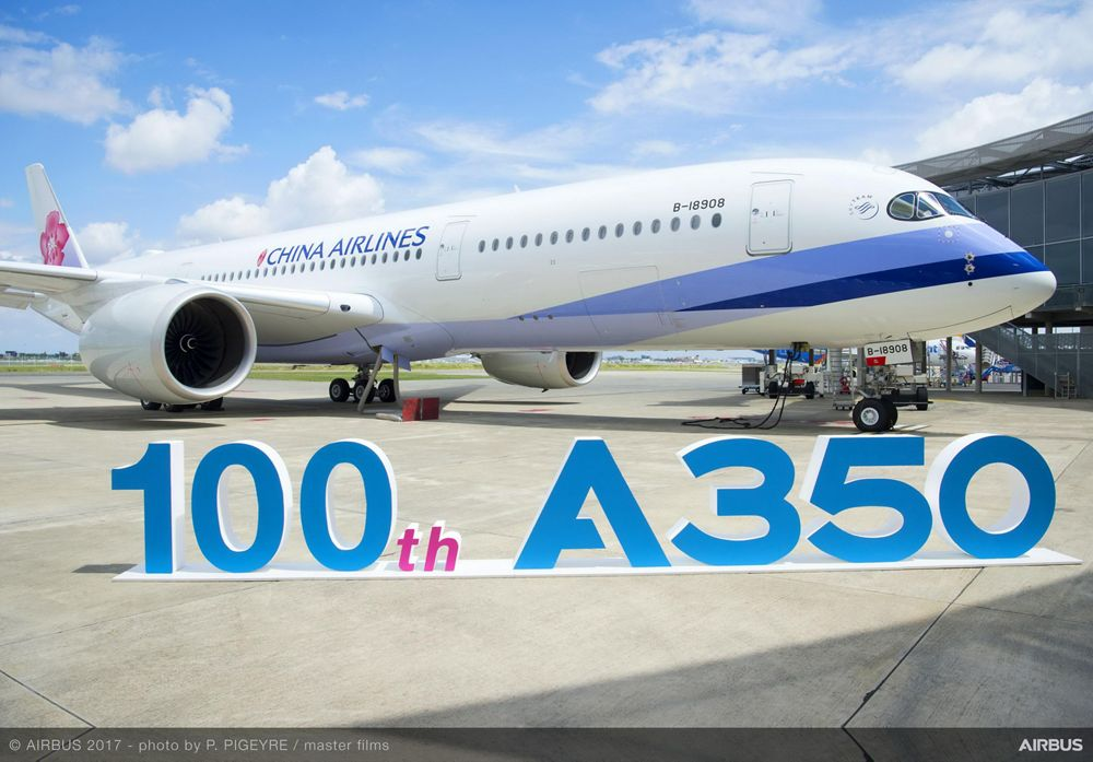 100th A350 XWB Delivered To China Airlines