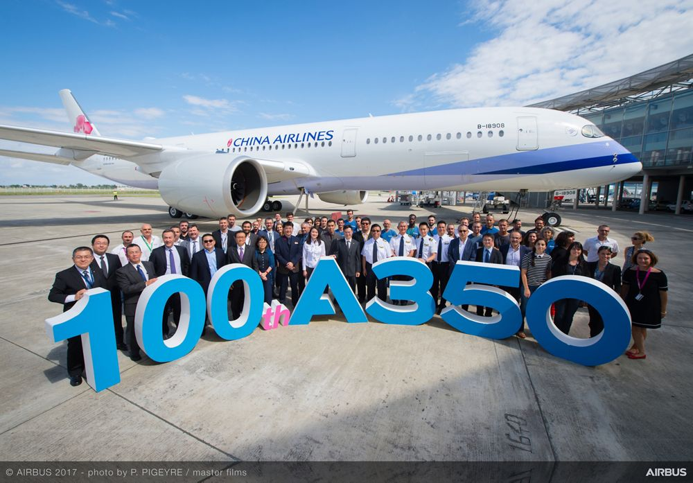 100th A350 Delivered To China Airlines Ceremony