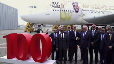 100th A380 Emirates