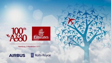 100th Emirates A380 Delivery