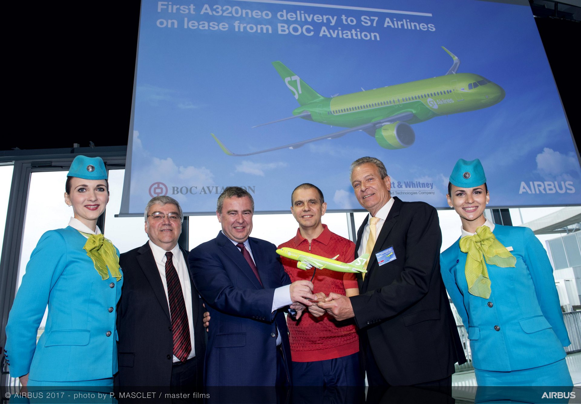 1st A320neo Delivery To S7 Airlines