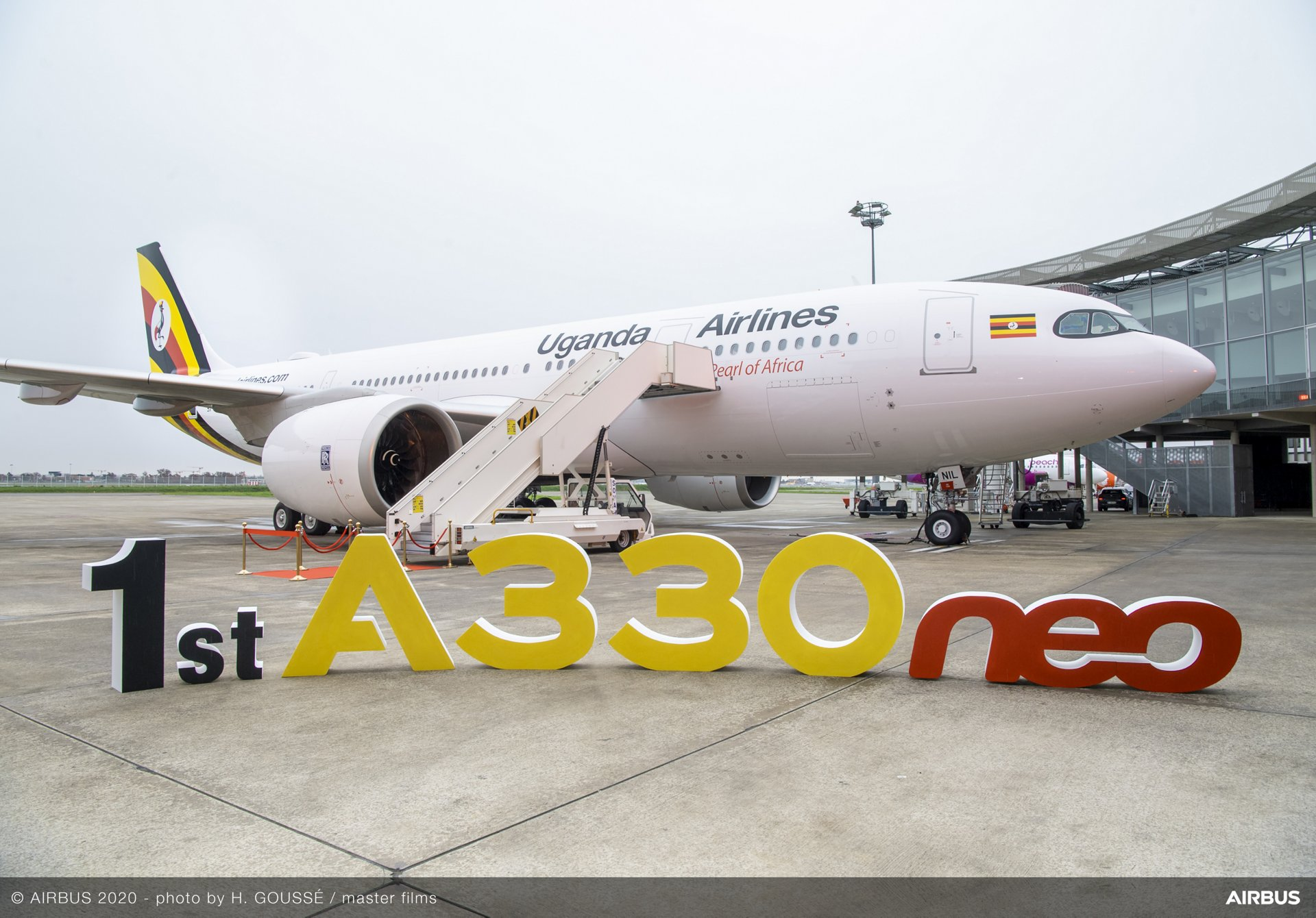 The first Airbus aircraft delivered to Uganda Airlines – an A330-800 version received in December 2020 – enables this carrier to launch long-range operations with non-stop intercontinental flights to the Middle East, Europe and Asia
