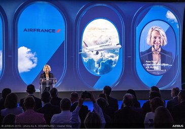 1st A350-900 Air France MSN331 Delivery - Anne Rigali speeching