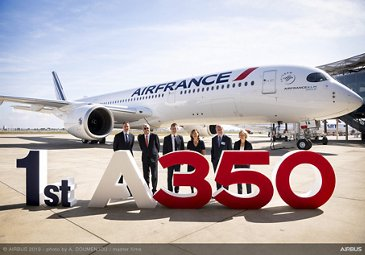 Delivery ceremony for Air France's first A350 XWB