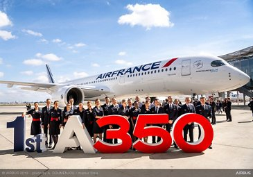 1st A350 900 Air France MSN331 Delivery - Flight crew